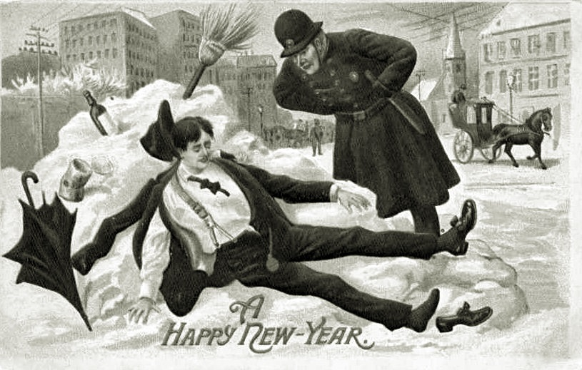 Postcard A Happy New Year 1912