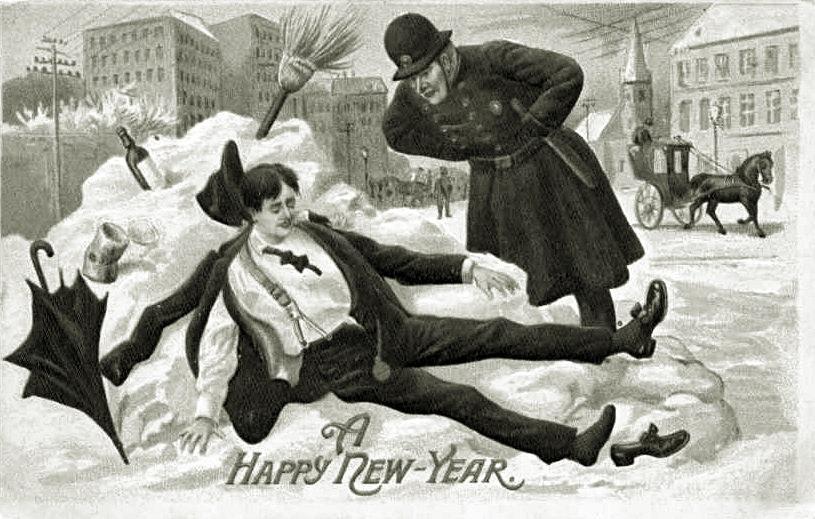 Postcard A Happy New Year 1912