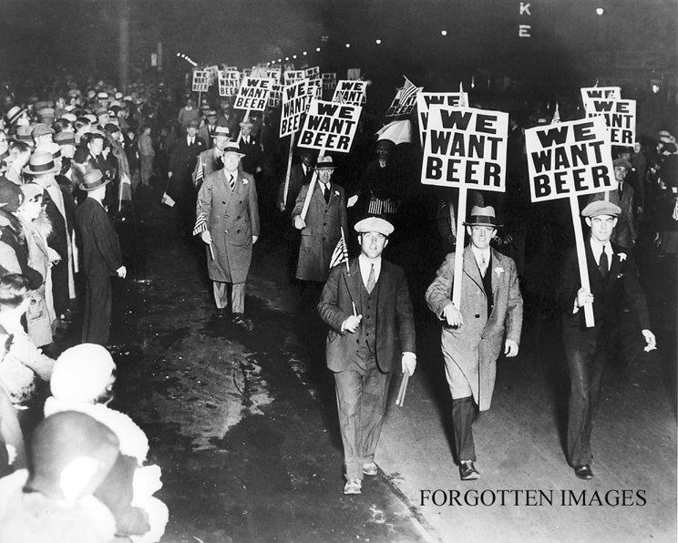 we want beer march during prohibition